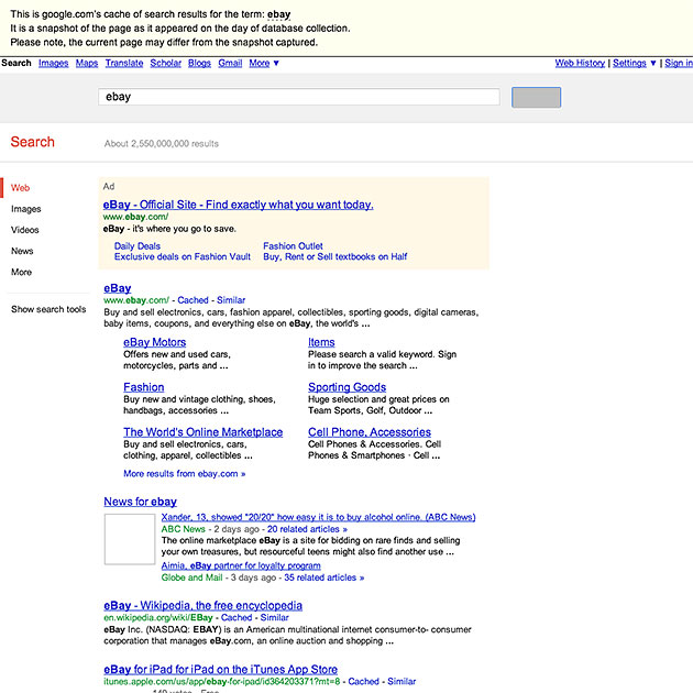 SEMrush: The SERP snapshot viewed at the time of collection is available for all organic and Adwords reports. image 1