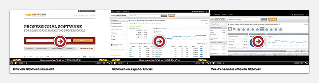 SEMrush: You can now watch SEMrush training videos in German, Spanish and French. image 1