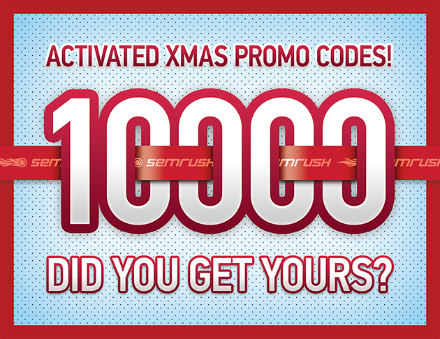 SEMrush: We have reached 10,000 promo code activations!  image 1