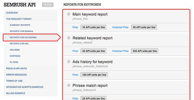 SEMrush: SEMrush API page is more intuitive, user-friendly, and ergonomically improved! image 1