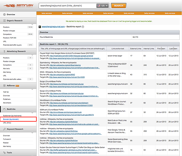 SEMrush: Meet the New, Fresh Backlinks Database!  image 1
