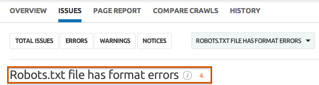 SEMrush: Check your robots.txt with the SEMrush Site Audit tool! image 3