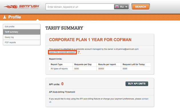 SEMrush: SEMrush Corporate Plans: Create Your Own Product! image 6