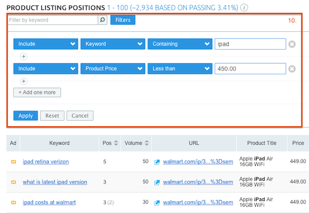 SEMrush: SEMrush Launches Product Listing Ads (PLA) data! image 5