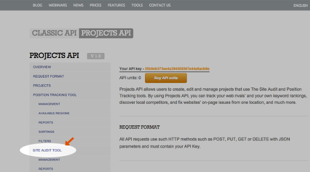 SEMrush: Perform a site audit via SEMrush API! image 1