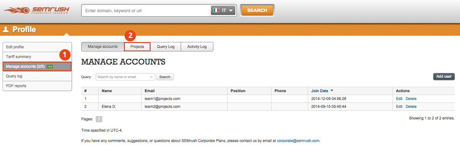 SEMrush: Monitor what your team is working on with SEMrush Corporate Plans! image 2