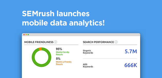 SEMrush: SEMrush launches mobile data analytics! image 1