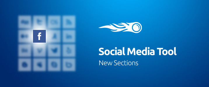 SEMrush: Social Media Tool: New Sections image 1