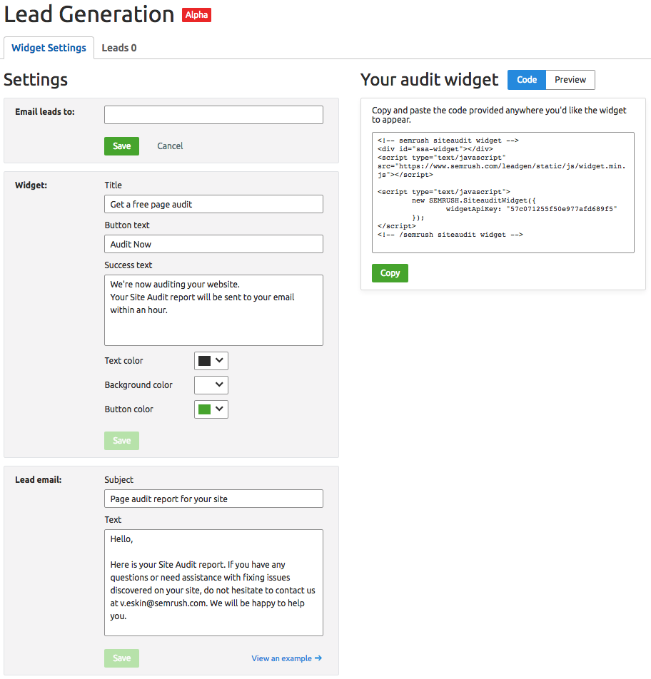 SEMrush: Lead Generation Tool: Open Beta image 3