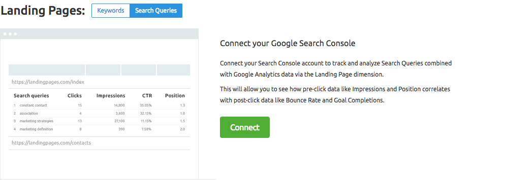 SEMrush: Organic Traffic Insights: Search Console Integration image 3