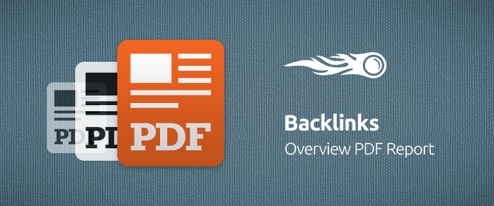 SEMrush: Backlinks: Overview PDF Report image 1