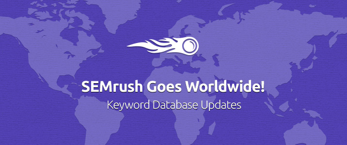 SEMrush: SEMrush conquista il mondo! Update database keyword immagine 1