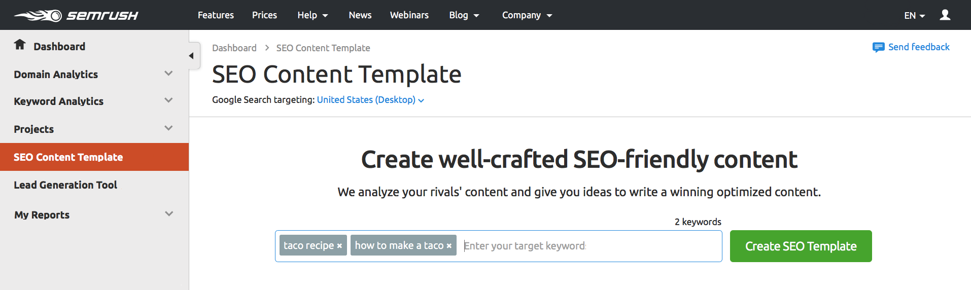 SEMrush: SEO Templates for Content in One Click image 2
