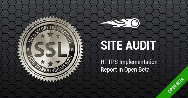 Site Audit HTTPS report banner