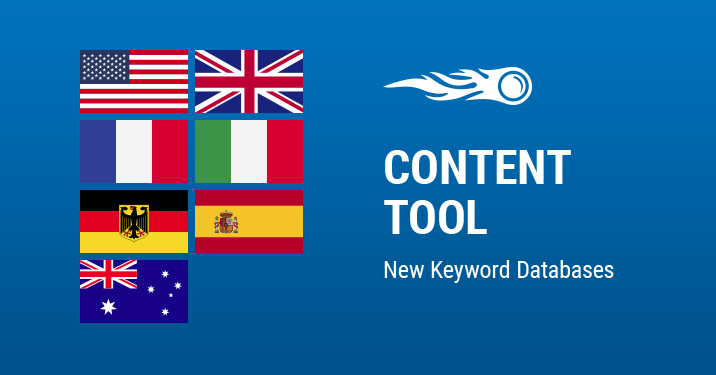 SEMrush: Content Tool: New Keyword Databases bild 1