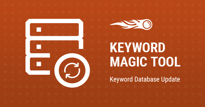 SEMrush: Keyword Magic Tool: Keyword Database Update image 1