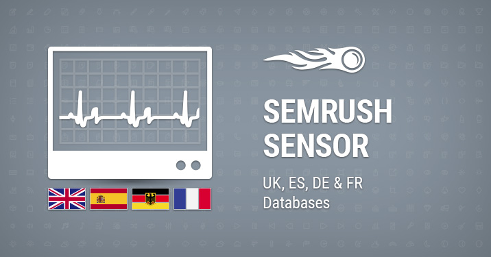 SEMrush Sensor: UK, ES, DE & FR Databases banner