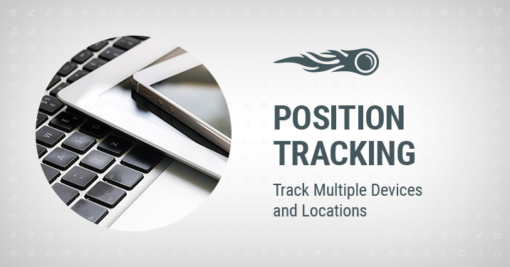 Position Tracking Track Multiple Devices and Locations banner