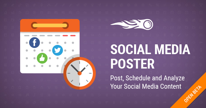 Social Media Poster out of beta banner